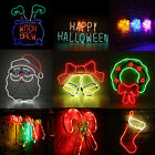 Neon Sign Light LED Wall Light Visual Bar Lamp Home Room Xmas Halloween Decor B