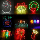 Neon Led Light Heart Sign Night Lamp Standing Decor Wall Home Xmas Halloween B
