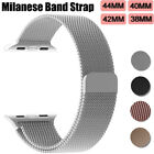 Stainless Milanese Mesh Loop Magnetic Band For Apple Watch 40/44mm 38/42mm Metal image