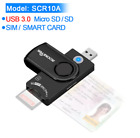 Rocketek USB 3.0 2.0 multi Smart Card Reader SD/TF MS M2 micro SD memory ,ID,Ban