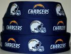 "Grosgrain Ribbon 7/8"" & 1.5"" Football Los Angeles Chargers Sport Team Printed. $0.99 USD on eBay"