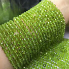 "Natural Faceted Green High Quality Peridot Round Beads 15.5"" Strand 2mm-5mm"
