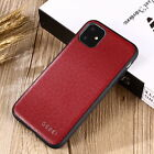 GEBEI Genuine Leather Soft TPU Case Back Cover For Apple iPhone 11 Pro Max