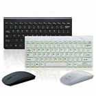 Slim 2.4GHz Wireless Keyboard and Cordless Mouse Combo Set For PC Black/White
