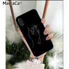 MaiYaCa Minimalist style series lines TPU Soft Silicone Phone Case Cover for