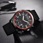 XINEW Mens Date Display Sports Nylon Canvas Band Outdoor Quartz Wrist Watches image