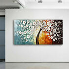 Modern Cherry Tree Flowers Art Oil Painting Canvas Picture Home Room Decor Mural