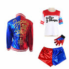 Adult & Kids Halloween Cosplay Harley Quinn Costume Suicide Squad Fancy Dress/q0
