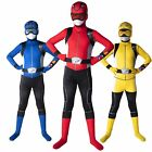 Kids Power Rangers Beast Morphers Costume Boys Girls Superhero Morphsuits NEW
