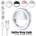 Selfie Portable LED Ring Fill Light Camera Flash for Cell Phone iPhone Universal