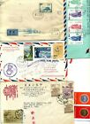 LOT - Collection 5 CHINA Covers.  FDC. PRC. First Flight. To ITALY. US, ICLAND