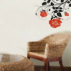 Large  Rose Flower Art Wall Stickers Living Room Home Background DIY Decals