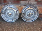 "VINTAGE KUSTOM WHEEL COVERS  14"" HUBCAPS 2EA. CHECK IT OUT"