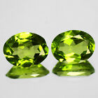 3.32 CTS 2 PCS FINE QUALITY PARROT GREEN NATURAL PERIDOT GEMSTONE FROM PAKSITAN