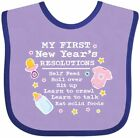 Inktastic My First New Years Resolutions With Baby Clip Art And Stars Baby Bib