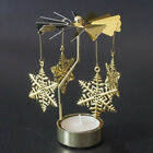 1x Spinning Rotary Metal Carousel Tea Light Candle Holder Stand Light Xmas Gift