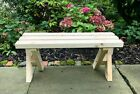 Chunky Sturdy Wooden Garden Bench - Patio - Decking - Quality Treated Timber