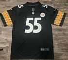 Devin Bush #55 Pittsburgh Steelers Men's Vapor Limited Jersey Black $29.99 USD on eBay