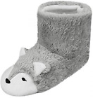 Ladies Thick Fluffy Indoor Sock Slippers Retro Thermal Plush House Shoes with No