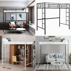 3FT Single Loft Bed High Sleeper Twin Cabin Bed Metal Bunk Bed Frame W/ Ladders