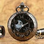 Retro Steampunk Tim Burtons Nightmare Before Christmas Hollow Quartz Pocket Watc image