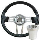 "14"" Golf Cart Steering Wheel and Adapter for Most Golf Cart EZGO Club Car Yamaha"