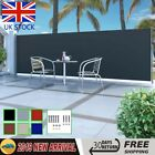 Retractable Side Awning Automatic Garden Patio Privacy Roll-back Balcony Screen