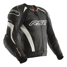 RST Tractech Evo III Jacket Black White Sport Race Leather Motorcycle Jacket New