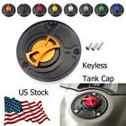 Motorcycle Fuel Gas Tank Cap Cover Aluminum Keyless For Yamaha YZF R15 2013-2014