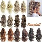 Tool Hair Extensions Jaw Horse Tail Hairpiece Curly Wavy Clip On Ponytail