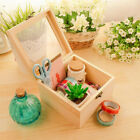 Wooden Lockable Box Glass Top Display Case Flower /Crafts /Gifts Packing Box