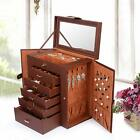 Kyпить Large Jewelry Box Storage Leather Earrings Ring Necklace Drawer Organizer Holder на еВаy.соm