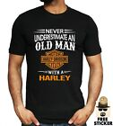 Harley Davidson T shirt Old Man Motorbike Motorcycle Dad Fathers Funny Gift Tee $13.16 USD on eBay