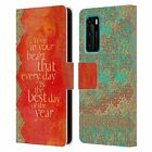 OFFICIAL DUIRWAIGH TYPOGRAPHY 2 LEATHER BOOK CASE FOR HUAWEI PHONES