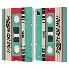 BROS VINTAGE CASSETTE TAPES LEATHER BOOK WALLET CASE COVER FOR APPLE iPAD