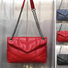 Small Quilted Lambskin Leather Shoulder Bag Crossbody Flap Purse Chain Envelope