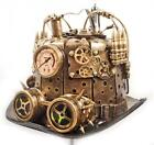 Gold Steampunk Top Hat - Gears Goggles Spikes Pressure Gauge Cosplay