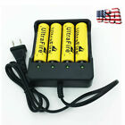 2/4pcs 18650 Rechargeable Batteries 9900mAh 3.7V Battery + 1pcs 4 Slots Charger