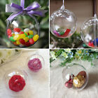 5 10x ball plastic christmas baubles clear fillable xmastree decoration ornament