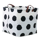 Square Storage Bins Canvas Collapsible Kids Toys Storage Basket Bag with Handles