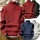 Kyпить Men Pullover Woolwork Roll Turtle Neck Jumper Wool Blend Knitted Thermal Sweater на еВаy.соm