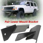 For+Jeep+Cherokee+XJ+Comanche+4%22+Lower+Windshield+LED+Light+Bar+Mount+Bracket+US