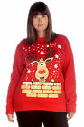 New Women Plus Size Top Sweatshirt Ladies Rudolph on Wall Christmas Print Warm