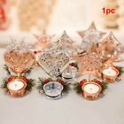 Festival Candle Holder Party Mini Christmas Red Pine Core Ornament Wedding Craft