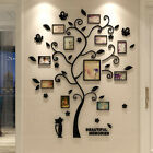 3d Acrylic Crystal Tree Wall Sticker Home Bed Room Photo Picture Frame Decor Diy