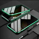 Anti Peep Magnetic Phone Case Double Glass Cover iPhone 11 Pro Max XR X 7 8 Plus