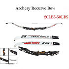 Archery 64in Recurve Bow 20-55lbs Takedown Longbow Mongolian Hunting Right Hand
