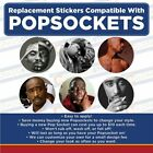 Music Legends & Idols- Replacement Vinyl Stickers for Cell phone mount Set of 6