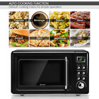 Retro Countertop Microwave Oven Steel Glass 5 Power Level Turntable CHOOSE COLOR