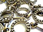 """Vntage Silver Tone Metal  Links Belt Clear Rhinestone Crystals circles 50"""" Total"""